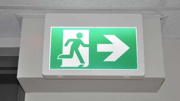 Know where exits are located when attending large events