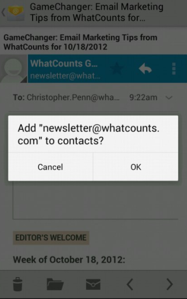 This is how to sign up on an Android