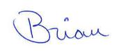 Brian Duff's signature