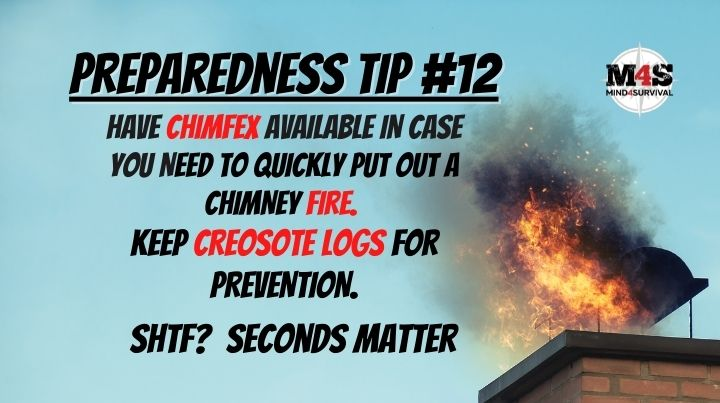 Keep Chimfex to put out a chimney fire
