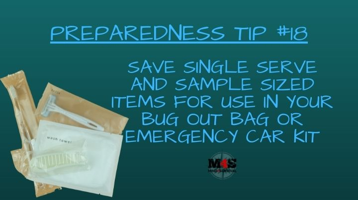 Save individually wrapped items for use in your emergency kits
