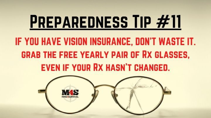 If you have vision insurance, grab the free glasses
