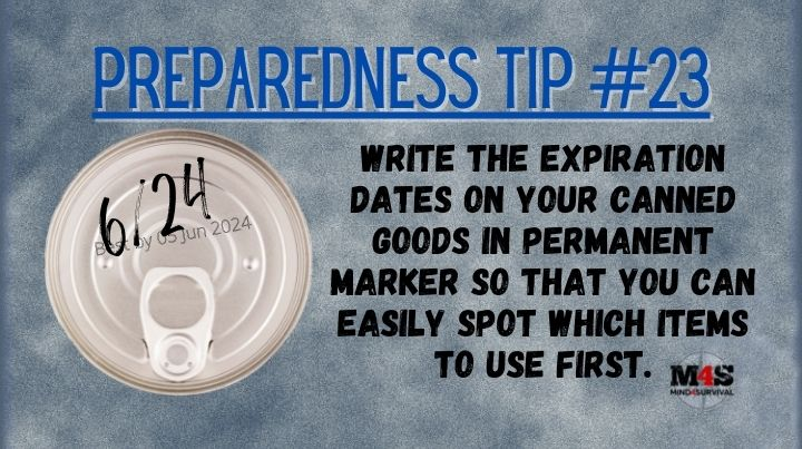 Write expiration dates on canned goods with a Sharpie